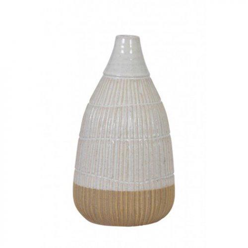 Wazon PELEDA White-Brown Ø16,5x31 cm