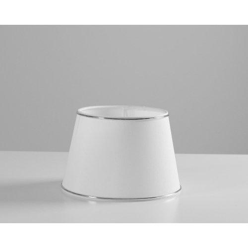 Abażur WHITE 20 cm ze srebrnym obramowaniem 2420801
