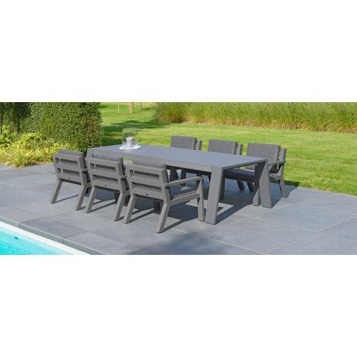 Fotel ogrodowy niski VIKING 7141 Anthracite 73x74x75cm firmy Borek