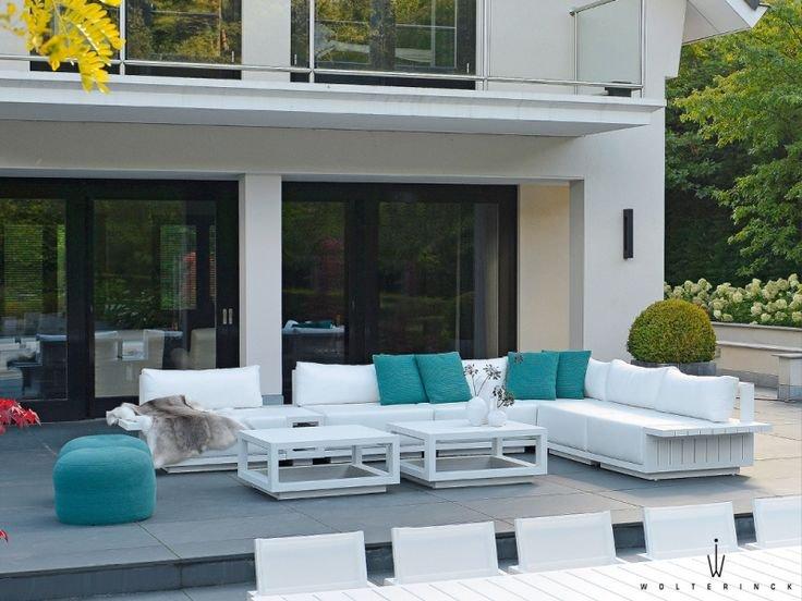 Sofa ogrodowa MURCIA moduł narożny 7524 White 89,5x89,5x67,5cm firmy Borek