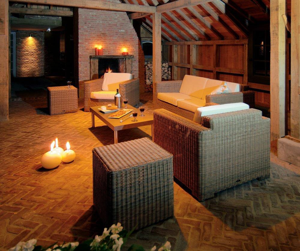 Fotel ogrodowy pleciony PLAZA Lounge 4053 Havana 87x90x77,5cm firmy Borek