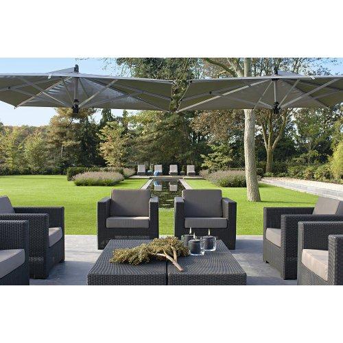 Stolik ogrodowy BRIO 4677 black 141x61x39cm firmy Borek
