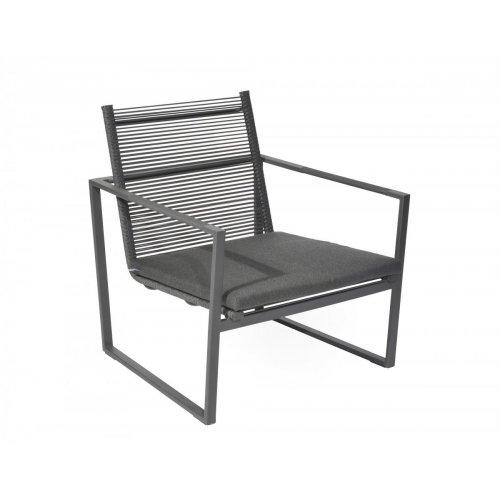 Fotel ogrodowy ANDRIA Lounge 4341 Dark Grey 71x70x76cm firmy Borek