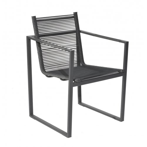 Fotel ogrodowy ANDRIA 4340 Dark Grey 55x54x82cm firmy Borek