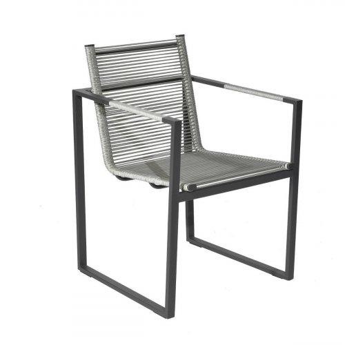 Fotel ogrodowy ANDRIA 4340 Iron Grey 55x54x82cm firmy Borek