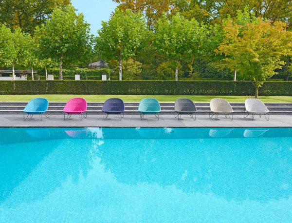 Fotel ogrodowy PASTURO lounge 4347 Blue Slate 85x89x76cm firmy Borek