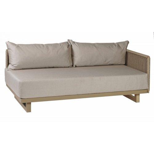 Sofa ogrodowa PORTOFINO moduł lewy 4330 Sand 170x85x65cm firmy Borek