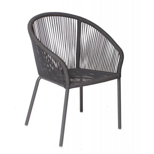 Krzesło ogrodowe COLETTE 4321 Dark Grey 64x64x85cm firmy Borek