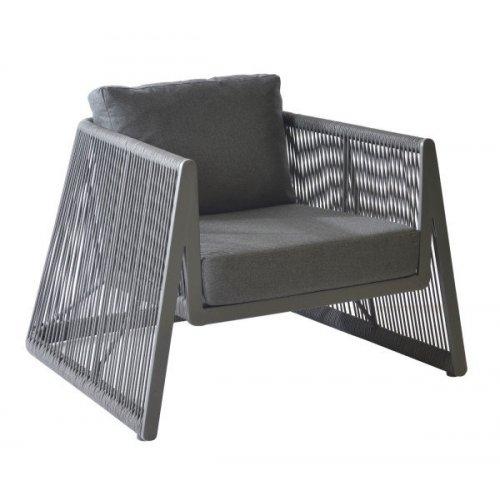 Fotel ogrodowy MONSANTO Lounge 4424 Dark Grey 101x87x67cm firmy Borek