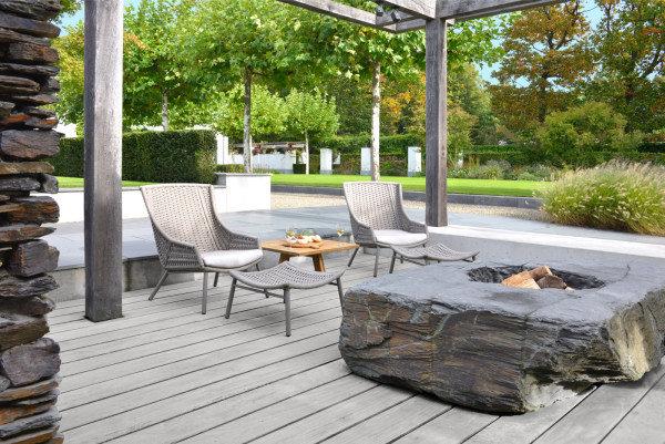 Komplet mebli ogrodowych AVEIRO - fotel i podnóżek firmy Borek
