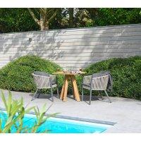 Krzesło ogrodowe COSENZA 7256 Anthracite 56,5x61,5x75cm firmy Borek