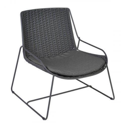 Fotel ogrodowy FERRAGUDO 4401 Anthracite 74,5x75x78cm firmy Borek