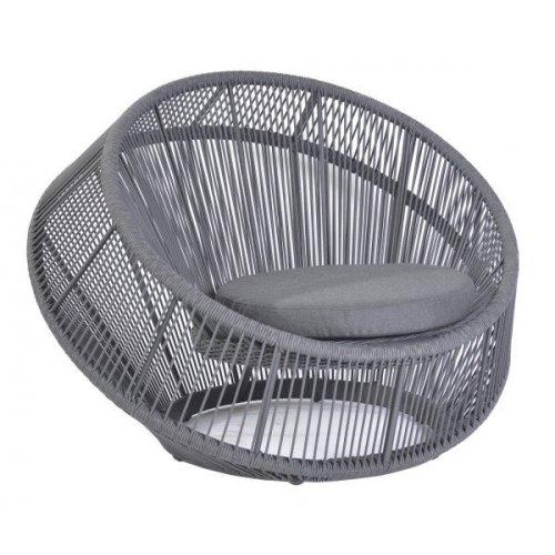 Fotel ogrodowy MONSARAZ lounge 4410 Dark Grey 113x106x84cm firmy Borek