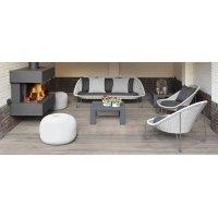 Fotel ogrodowy PASTURO lounge 4347 Iron Grey 85x89x76cm firmy Borek