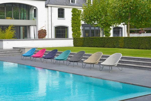 Fotel ogrodowy PASTURO lounge 4347 Fuchsia 85x89x76cm firmy Borek