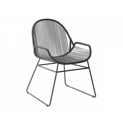 Krzesło ogrodowe SILVES 4405 Dark Grey 61,5x61x84cm firmy Borek