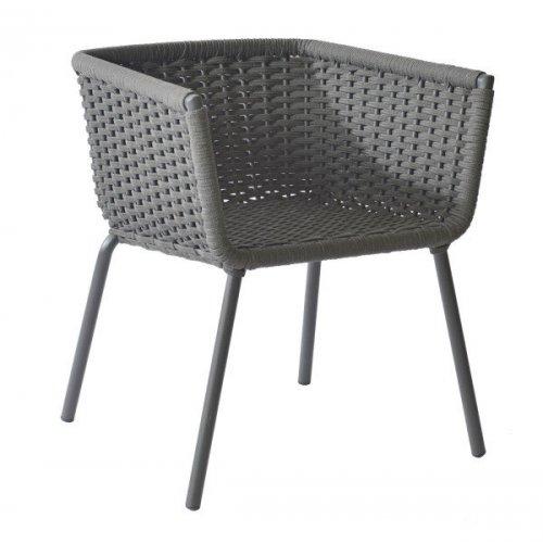 Fotel ogrodowy VALLDEMOSSA 4362 Anthracite 61x61x69cm firmy Borek
