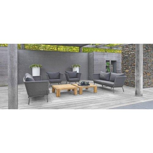 Fotel ogrodowy VALLDEMOSSA Lounge 4360 Anthracite 92,5x76x78cm firmy Borek
