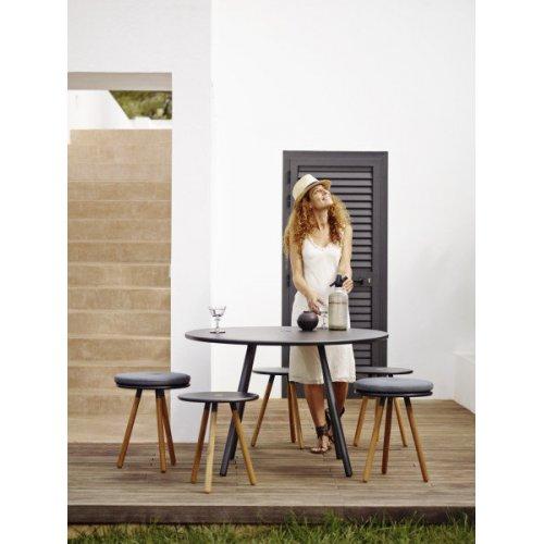 Stolik/stołek ogrodowy AREA 11009TAL firmy Cane-line