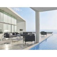 Komplet mebli ogrodowych ENCORE - sofa i 2 fotele firmy Cane-line