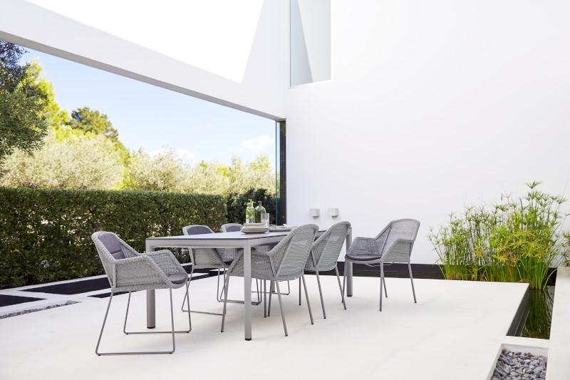 Stół obiadowy ogrodowy DROP 50406AI/AL 200x100x73,5cm firmy Cane-line