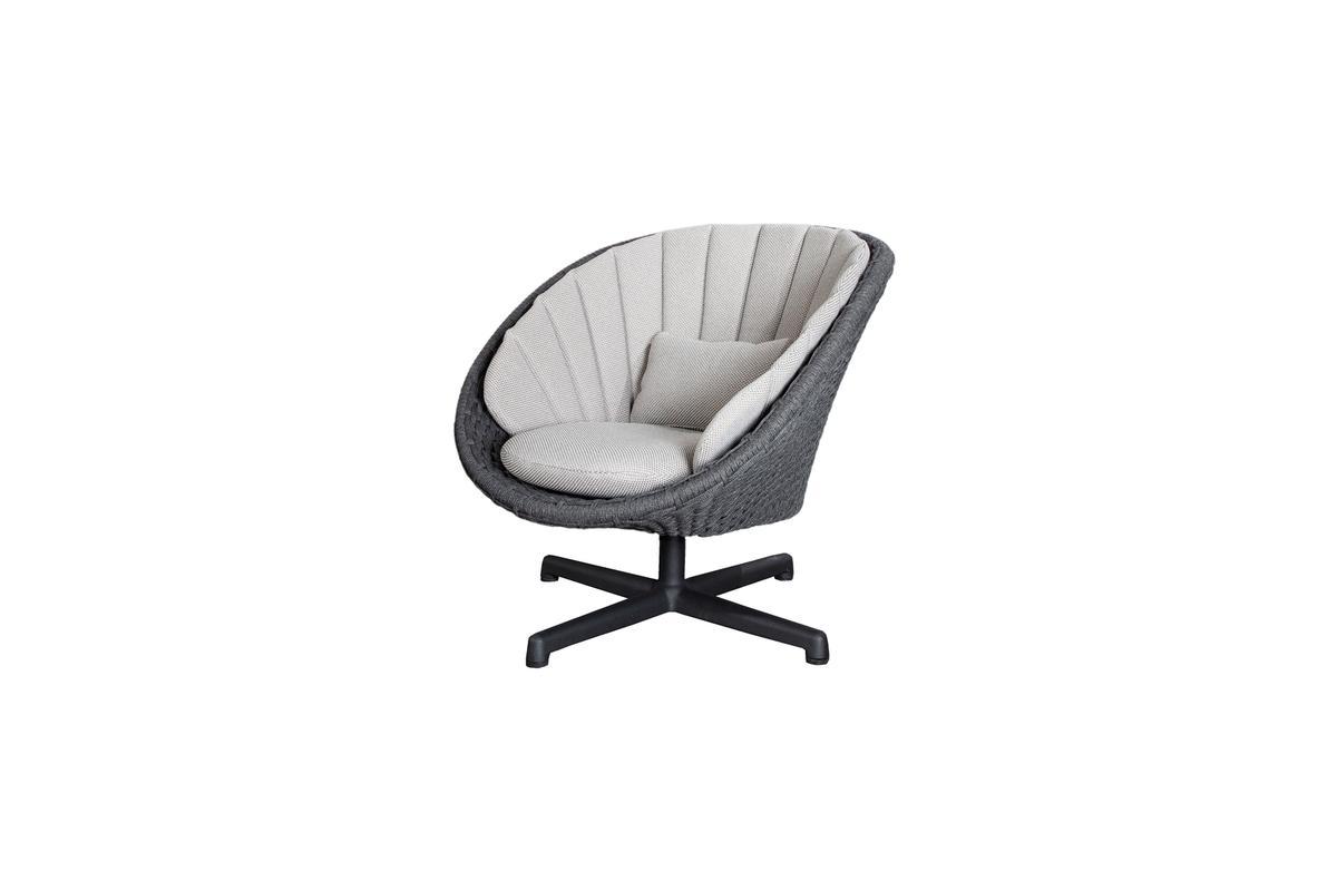 Fotel ogrodowy PEACOCK lounge 5458RODGSWB 91x93x87cm firmy Cane-line
