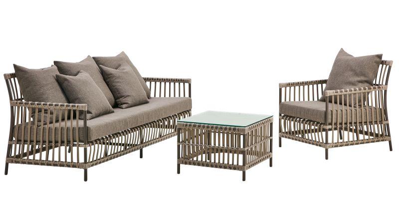Fotel ogrodowy CAROLINE SD-E126-MC 70x76x81cm firmy Sika-Design