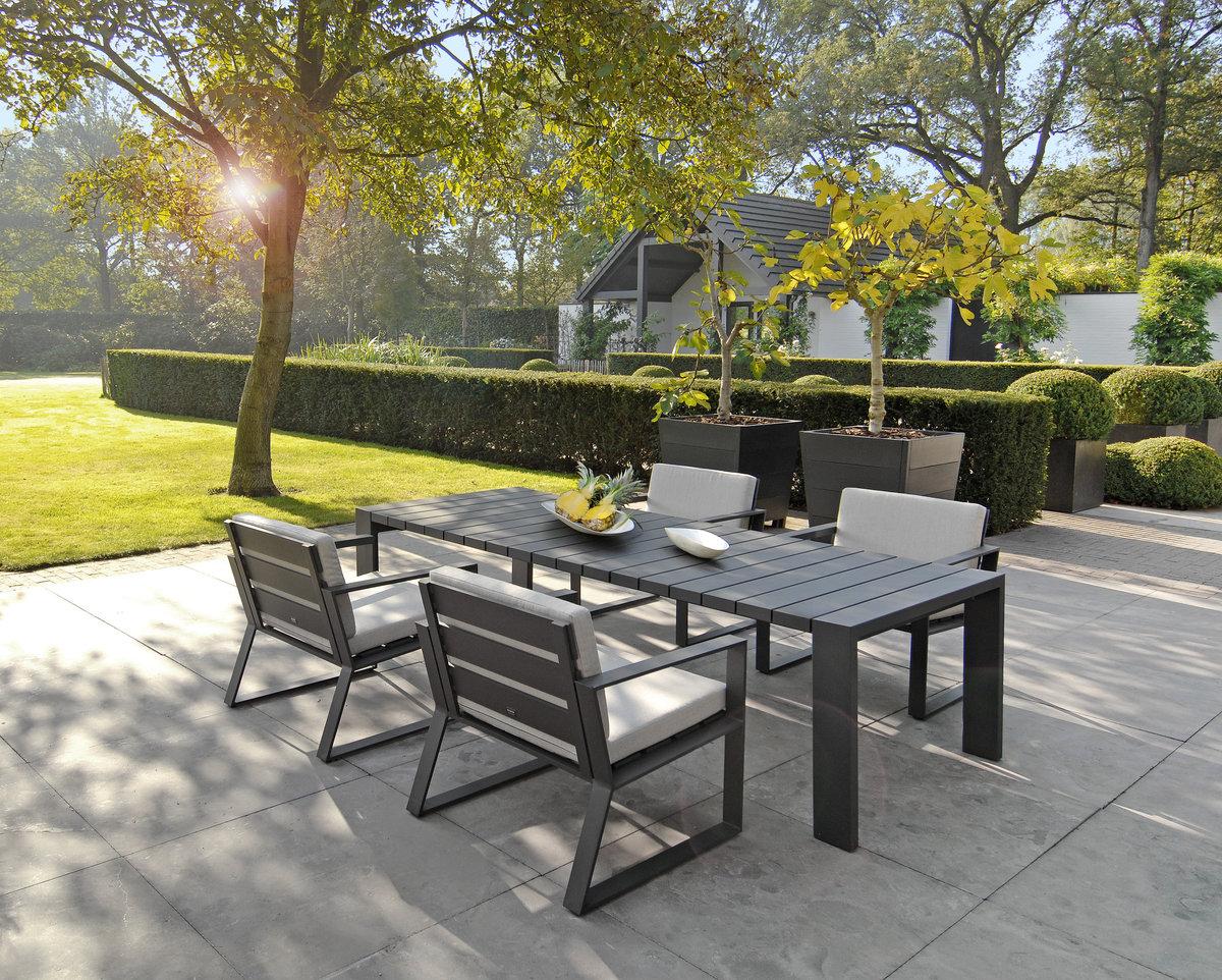 Fotel ogrodowy SAMOS Lounge 7203 Anthracite 72x67x35,5cm firmy Borek