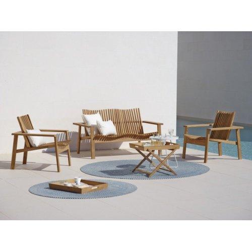 Komplet mebli ogrodowych teakowych AMAZE - sofa i 2 fotele firmy Cane-line