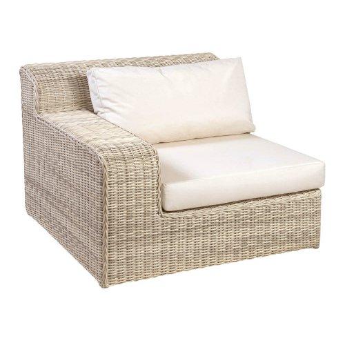 Sofa ogrodowa ATLANTA moduł prawy 4085 Carrara White 107x107x79,5cm firmy Borek