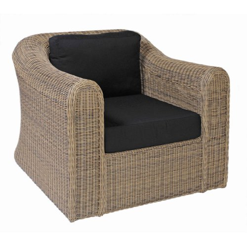 Fotel ogrodowy pleciony BALI Lounge 4061 Havana 96,5x93x77cm firmy Borek