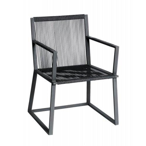Fotel ogrodowy LINCOLN 4308 Dark Grey 60x61x80cm firmy Borek