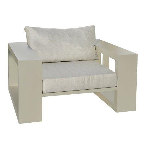 Fotel ogrodowy EVERGLADES Lounge 7150 Pearl Grey 100x100x55cm firmy Borek