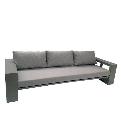 Sofa ogrodowa EVERGLADES 7151 Pearl Grey 160x100x55cm firmy Borek
