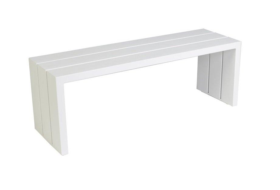 Ławka ogrodowa SAMOS 7228 White 120x38x43cm firmy Borek