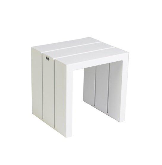 Stolik ogrodowy SAMOS 7227 White 42x38x43cm firmy Borek