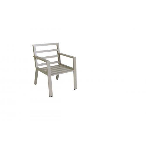 Fotel ogrodowy VIKING 7140 Pearl Grey 62x71,5x87cm firmy Borek
