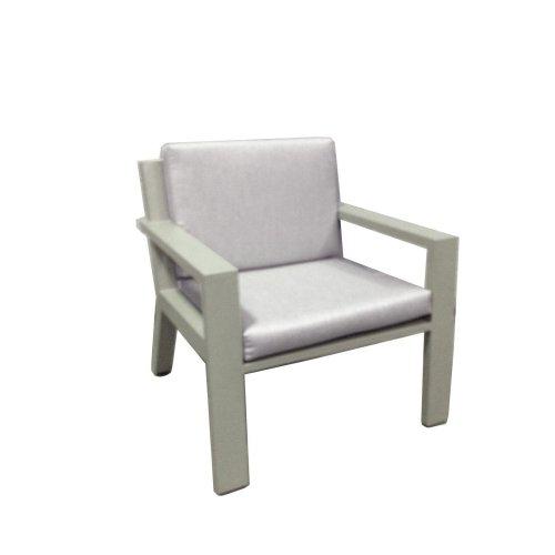 Fotel ogrodowy niski VIKING 7141 Pearl Grey 73x74x75cm firmy Borek