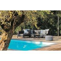 Sofa ogrodowa HORIZON moduł narożny lewy 7230 Anthracite 90x90x70,5cm firmy Borek