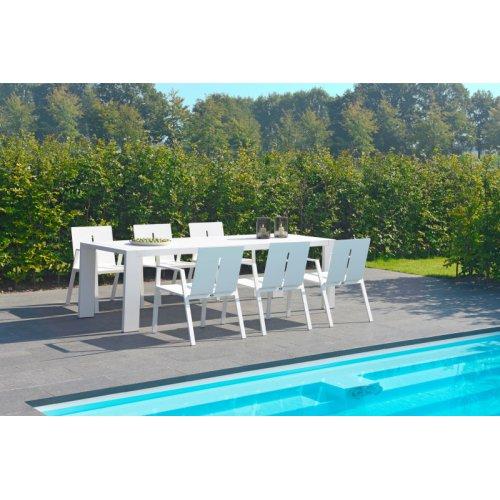 Stół ogrodowy PANAMA Long 7177 White Firmy Borek