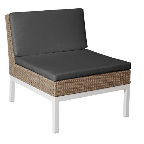 Fotel ogrodowy pleciony GENEVA Lounge 4207 White 72x88x77cm firmy Borek