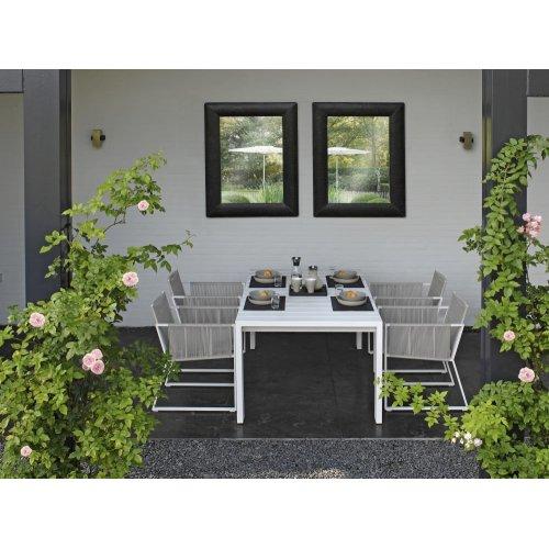 Stół ogrodowy niski SAMOS 7216 White 200x100x69cm Firmy Borek