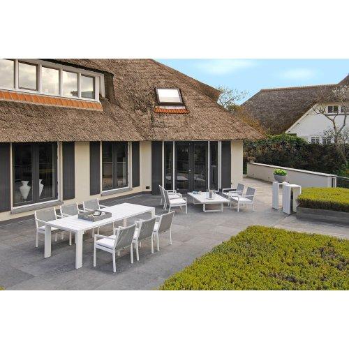 Stół ogrodowy SAMOS Large 7217 White 240x100x75cm firmy Borek