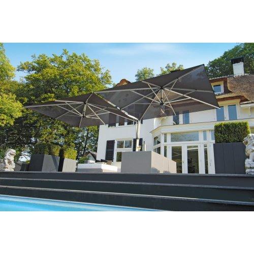 Parasol ogrodowy DUO 2616 700x345m Black Firmy Borek