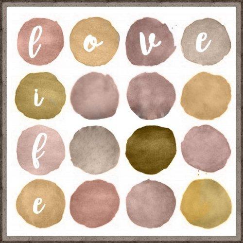 Obraz LOVE LIFE SMOKY SMO160703 30x30ccm
