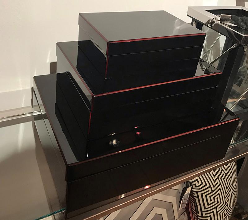 Pudełko na biżuterię BLACK 75365 33x24x10cm
