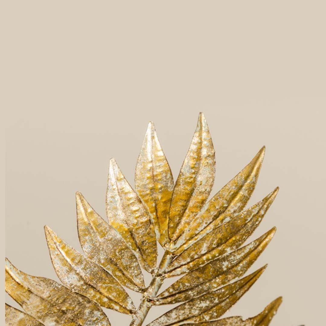 Misa dekoracyjna LIŚĆ GOLD 1009601 72x43x13cm