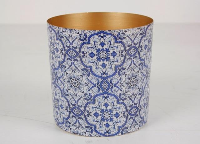 Pojemnik BLUE/GOLD 270521871 Ø15x15cm