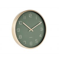 Zegar ścienny GOLD ELEGANT GREEN Ø30cm