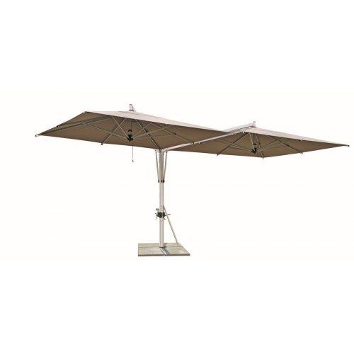 Parasol ogrodowy DUO 2615 700x345m Taupe firmy Borek
